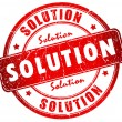 Solution stamp — Foto de Stock