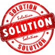 Solution stamp - Stock Photo