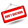 Do not disturb sign - Stock Photo