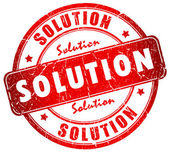 Solution stamp — Stock Photo