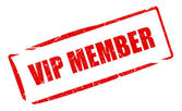 Vip member stamp — Stock Photo