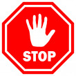Stop sign vector illustration - Vettoriali Stock