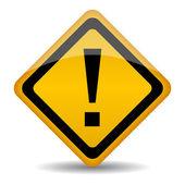 Vektor-warnschild mit ausrufezeichen — Stockvektor