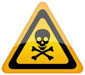 Kafatası tehlike işareti vektör — Stok Vektör