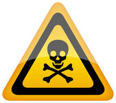 Vector skull danger sign — Stock Vector