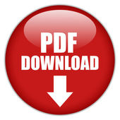 Vector pdf download button — ストックベクタ
