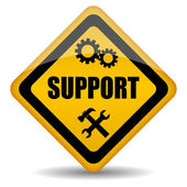 Vector support sign — Stock Vector