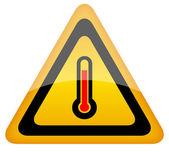 High temperature vector warning sign — Stock Vector