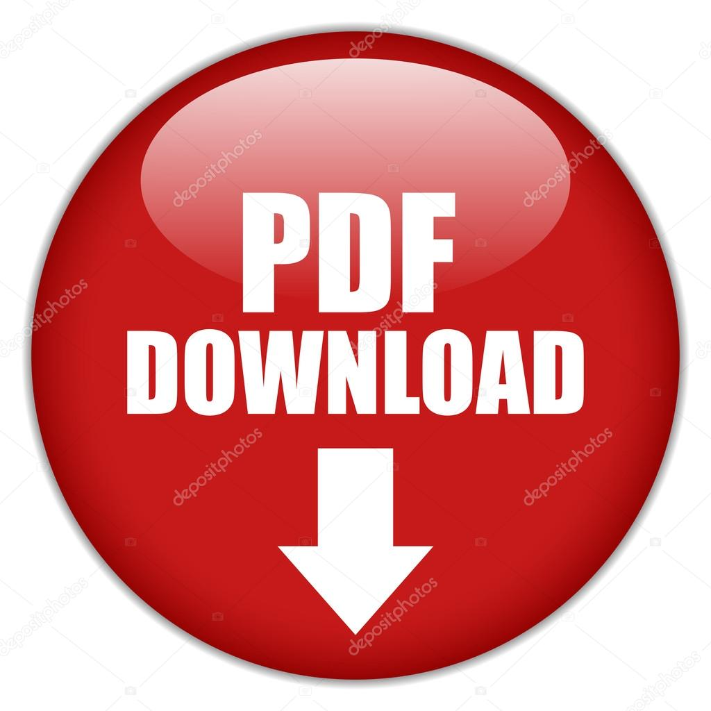 Vector pdf download button isolated on white — Stock Vector #13428690