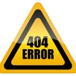 Error 404 icon — Stock Photo