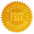 Stock Photo: Free registration icon
