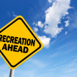 Foto Stock: Recreation ahead