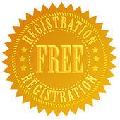 Icona di registrazione gratuita — Foto Stock