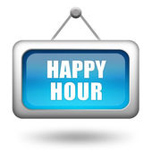 Happy hour sign — Stock Photo