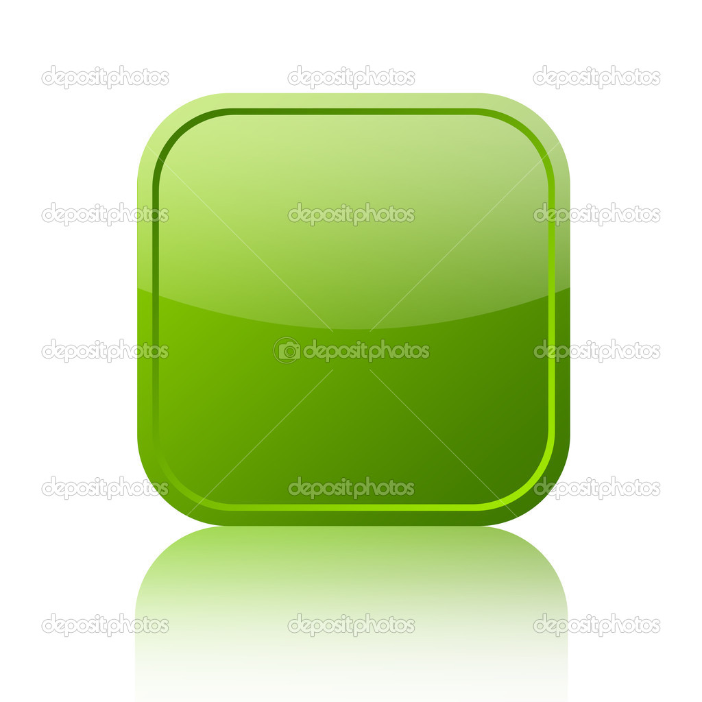 Green blank web button isolated on white — Stock Photo #13517181