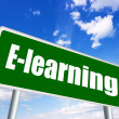 E-learning sign — Foto de Stock