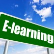 Foto de Stock  : E-learning sign