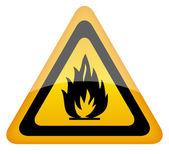 Vector fire warning sign — Stock Vector