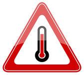 Vector high temperature sign — Stock Vector