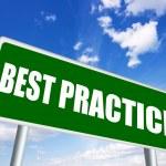 Best practice sign — Stock Photo