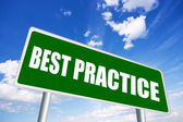 Best practice sign — Stockfoto