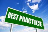 Melhor sinal de prática — Foto Stock