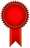 Red award seal — Stock Photo