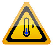 Low temperature warning sign — Stock Vector