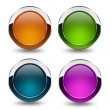 Glossy blank buttons set — Stock Photo