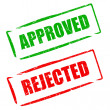 Approved rejected — Stock Photo