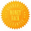 Money back guarantee gold seal — Stock Photo