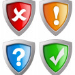 Security icons - Stock Photo