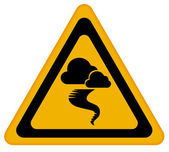 Tornado warning sign — Stock Photo