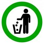 Keep clean, no littering — Stock Vector