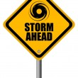Storm warning sign - Stock Vector