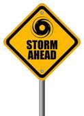 Panneau d'avertissement de tempête — Vecteur