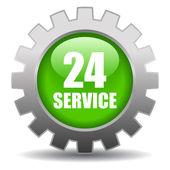 24 godzinny serwis znak — Wektor stockowy