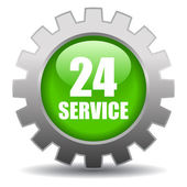 24 hour service sign — Vector de stock