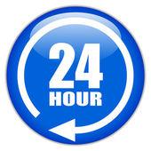 Sinal vector vinte e quatro horas — Vetorial Stock