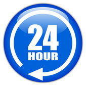 Vector sign twenty four hour — Vector de stock