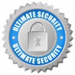 Ultimate security icon — Stock Photo
