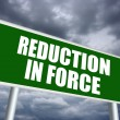 Stock Photo: Reduction in force