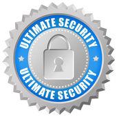 ícone de segurança final — Foto Stock
