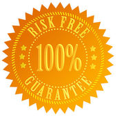 Risk free guarantee icon — Stock Photo