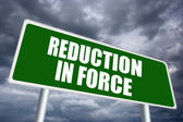 Reduction in force — Stock Photo