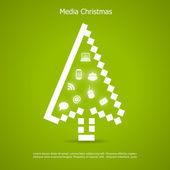 Merry christmas vector card — Vetor de Stock