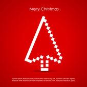 Postal de navidad feliz — Vector de stock