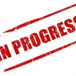 In progress stamp — Stock Photo