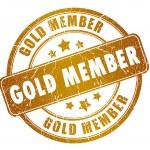 Постер, плакат: Gold member stamp