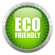 Eco friendly glass icon - Stock Photo